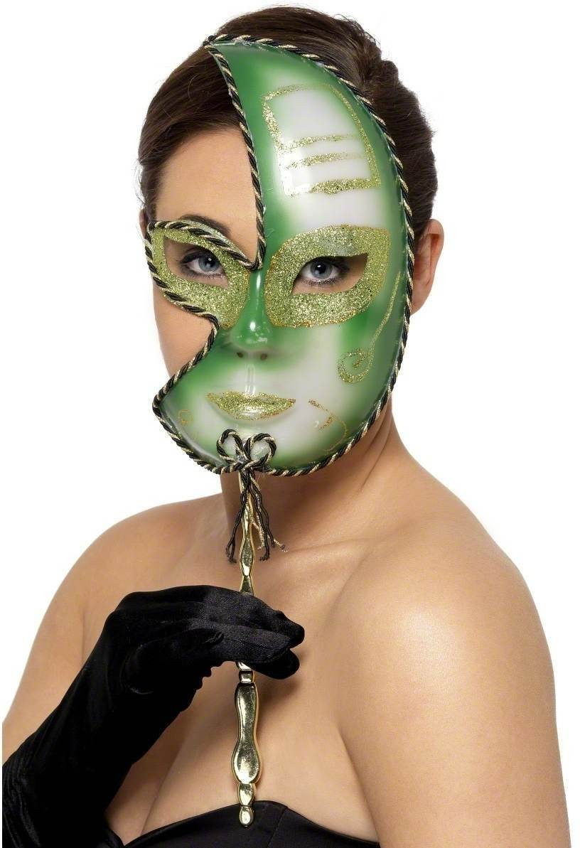 Mardi Gras Full Face Eyemask - Fancy Dress