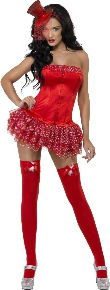 Red Christmas Fancy Dress Costume Ladies (Sexy)