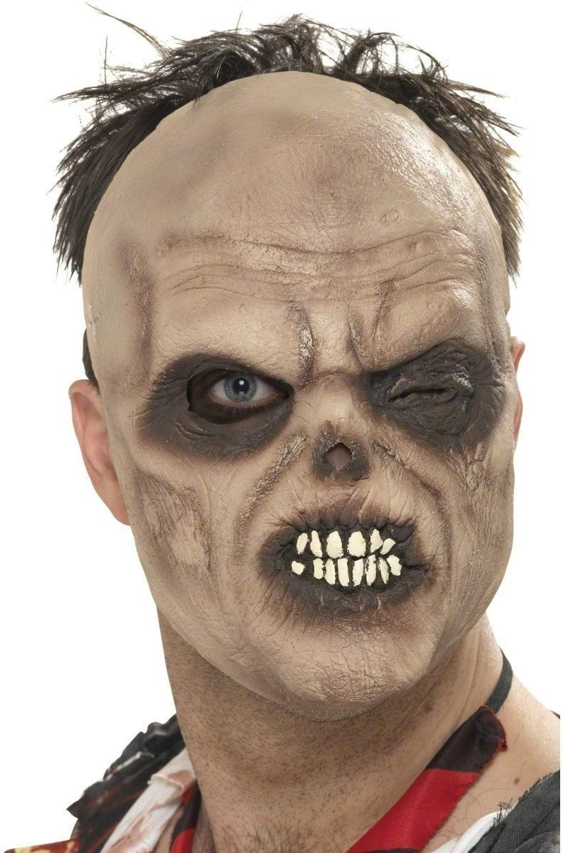 Half Face Decaying Mask - Fancy Dress Mens (Halloween)