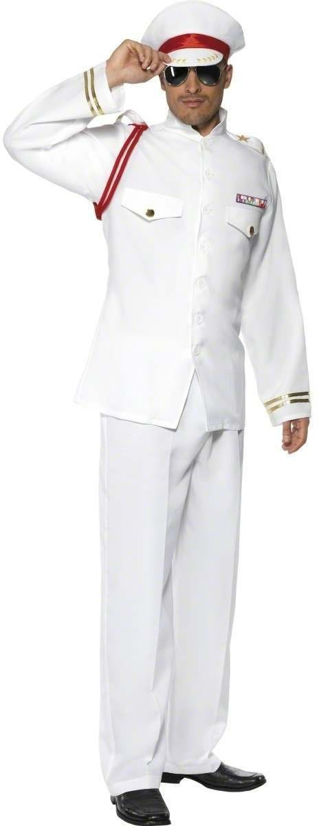 Navy Captain Fancy Dress Costume Mens (Sailor)