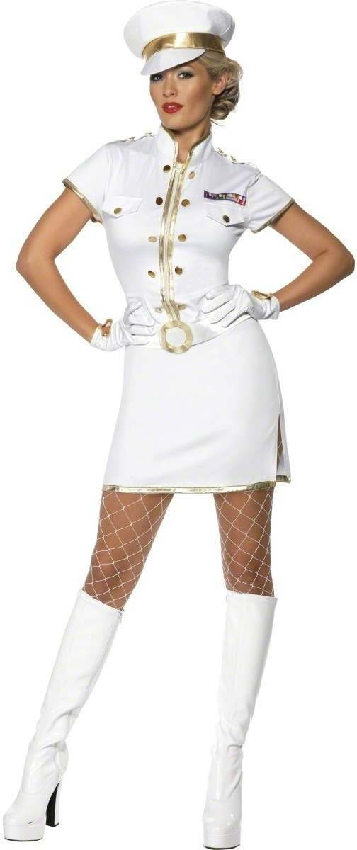 High Seas Captain Fancy Dress Costume Ladies (Sailor)
