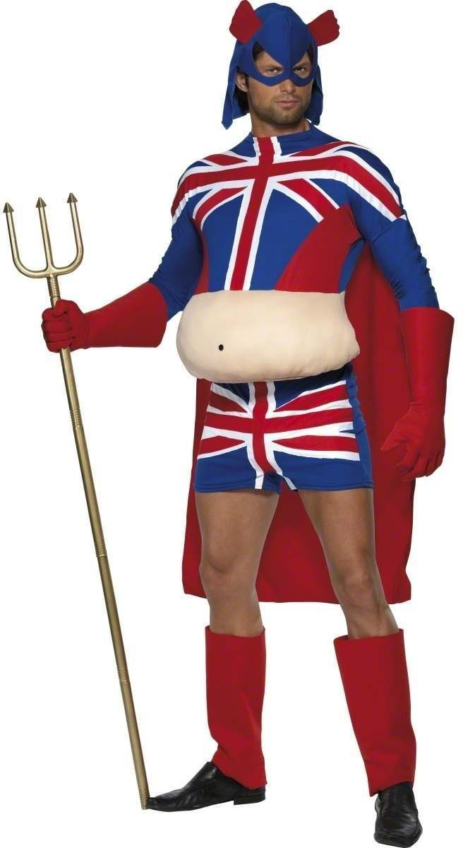 Britannia Man Fancy Dress Costume Mens Size 38-40 S (Heroes)