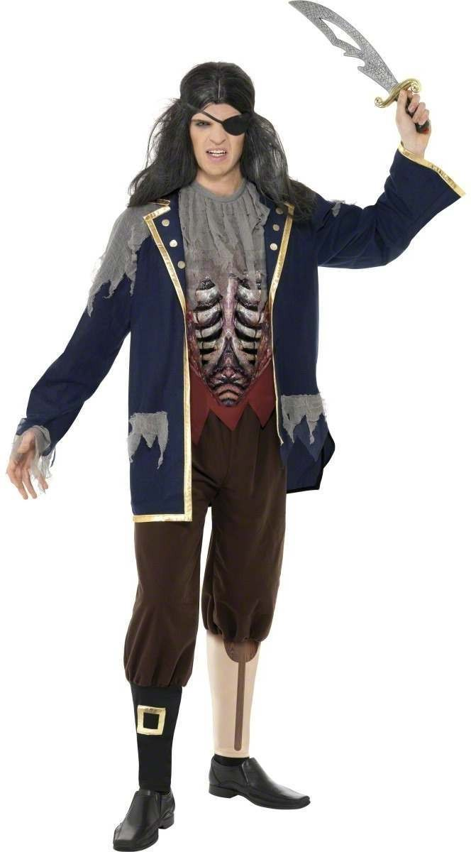 Pirate Captain Fancy Dress Costume Mens (Halloween)