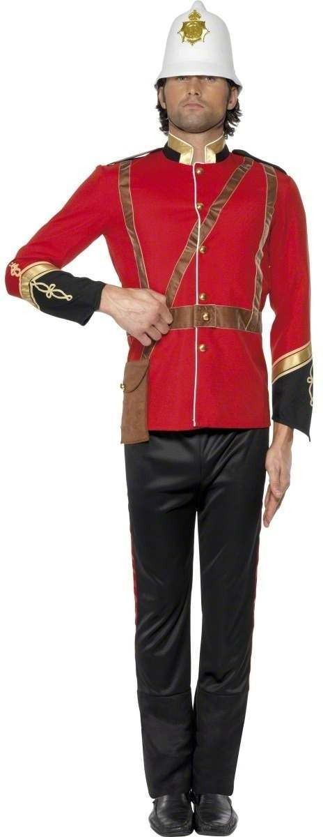 British Colonial Solider Fancy Dress Costume Mens (Cultures)