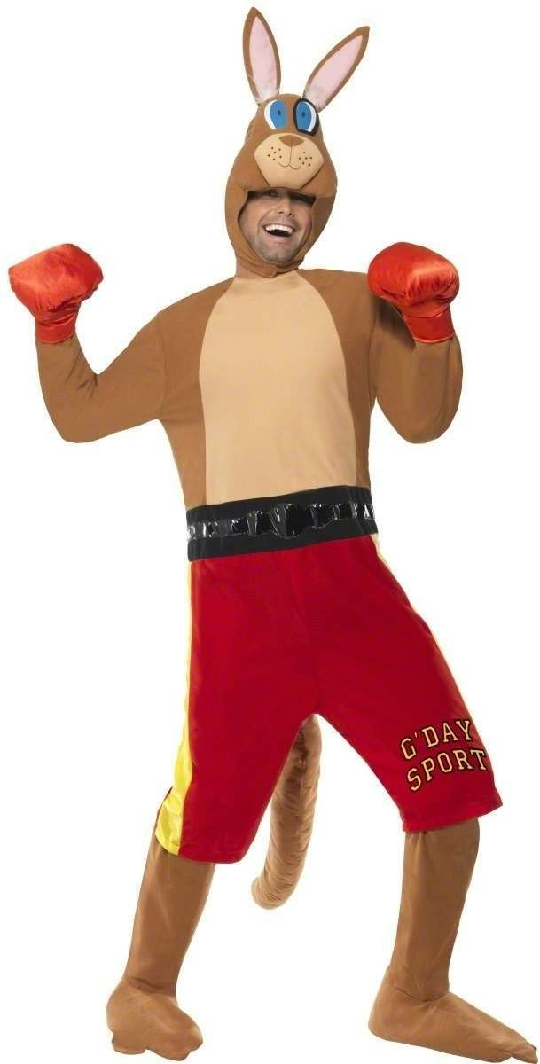 Kangaroo Boxer Fancy Dress Costume Mens Size 38-40 S (Cultures)