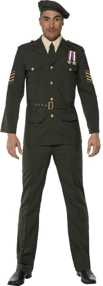 Wartime Officer Fancy Dress Costume Mens (Army)