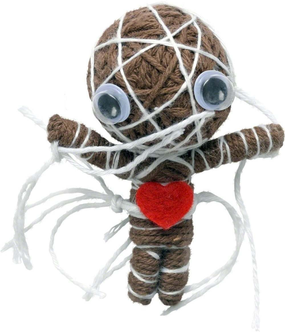 Voodoo String Doll Charm - Fancy Dress