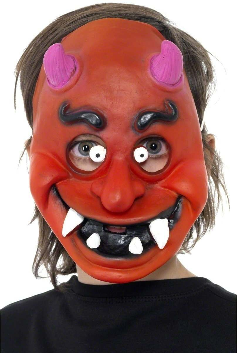 Childs Devil Mask - Fancy Dress Boys (Halloween)
