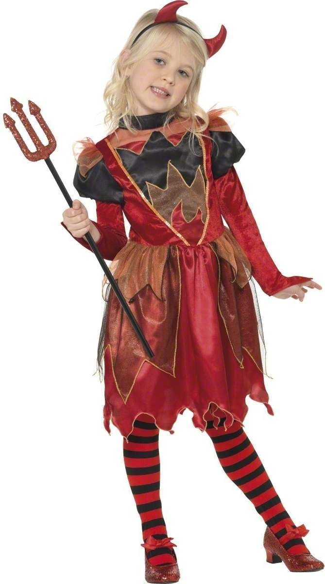 Flame Witch Fancy Dress Costume Girls (Halloween)