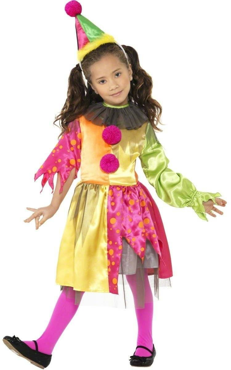 Scary Girl Clown Fancy Dress Costume Girls (Halloween)