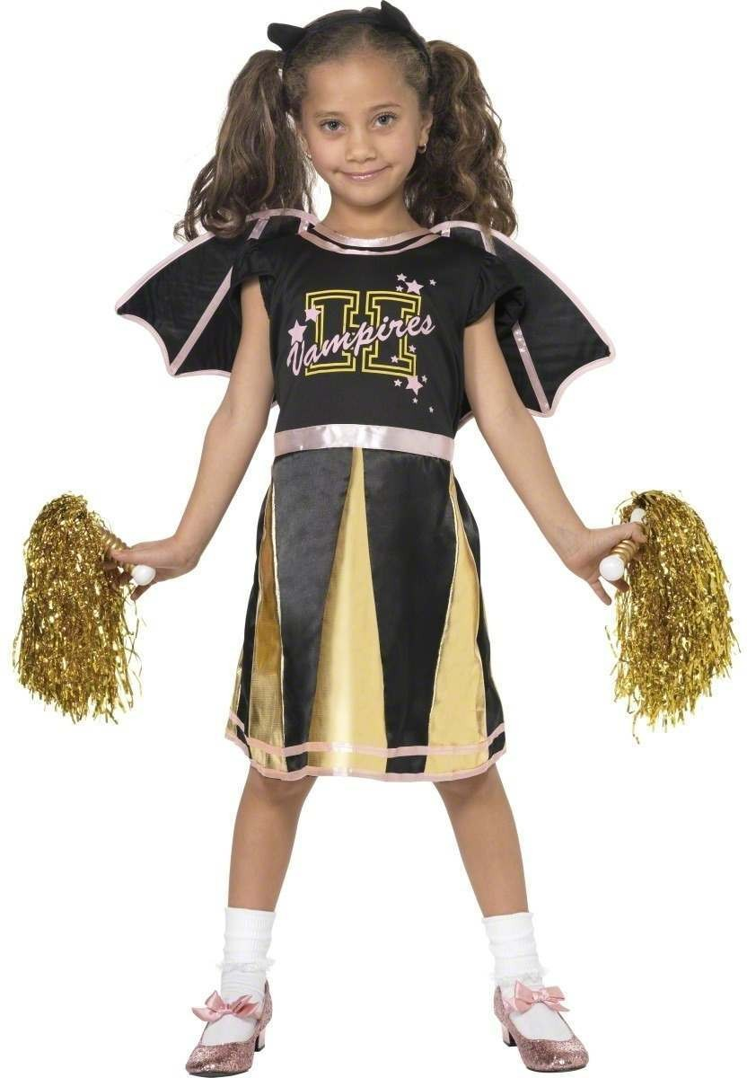 Cheerleader Bat Fancy Dress Costume Girls (Sport)