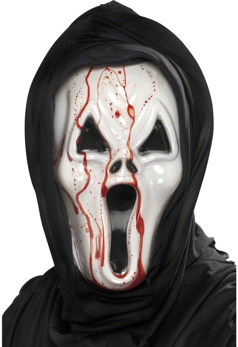 Screamer Bleeding Face Mask - Fancy Dress Mens (Halloween)