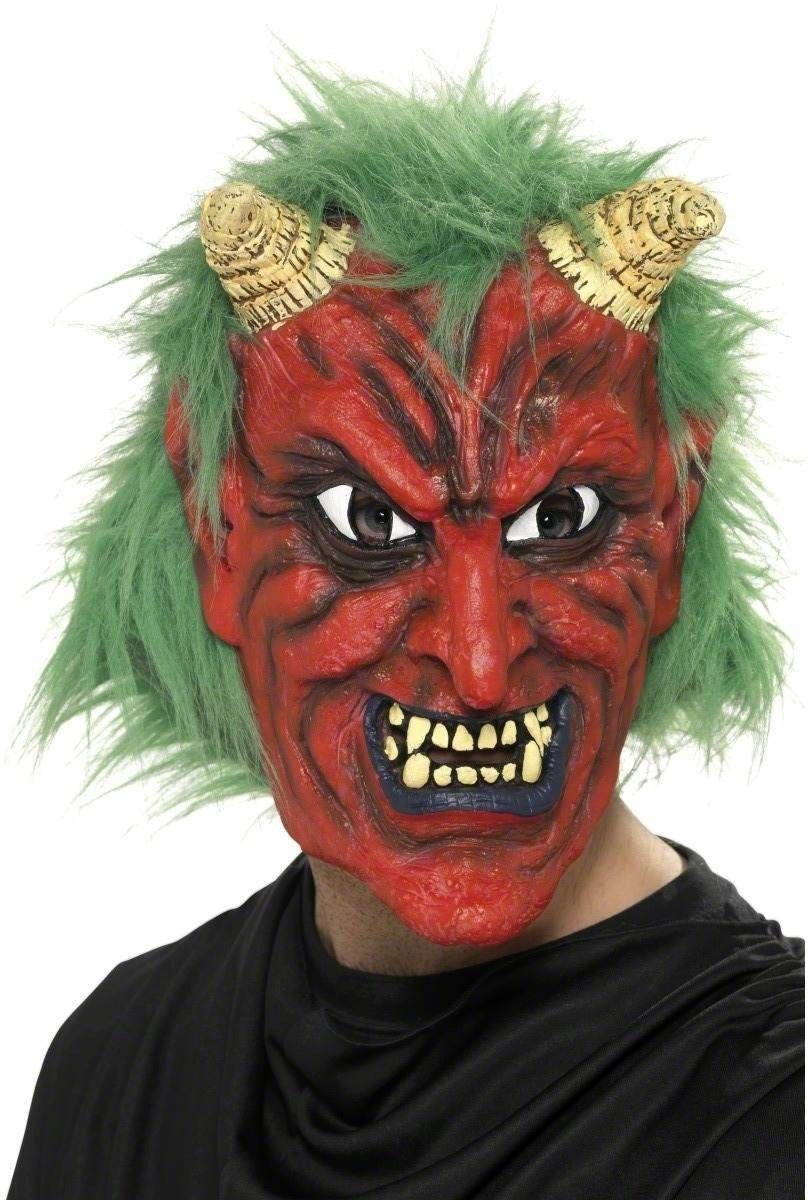 Demon Devil Mask - Fancy Dress Mens (Halloween)