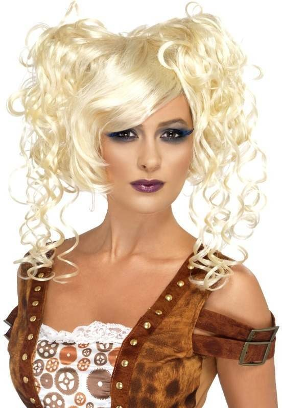 Steam Punk Pigtail Wig (Halloween Wigs) - Blonde
