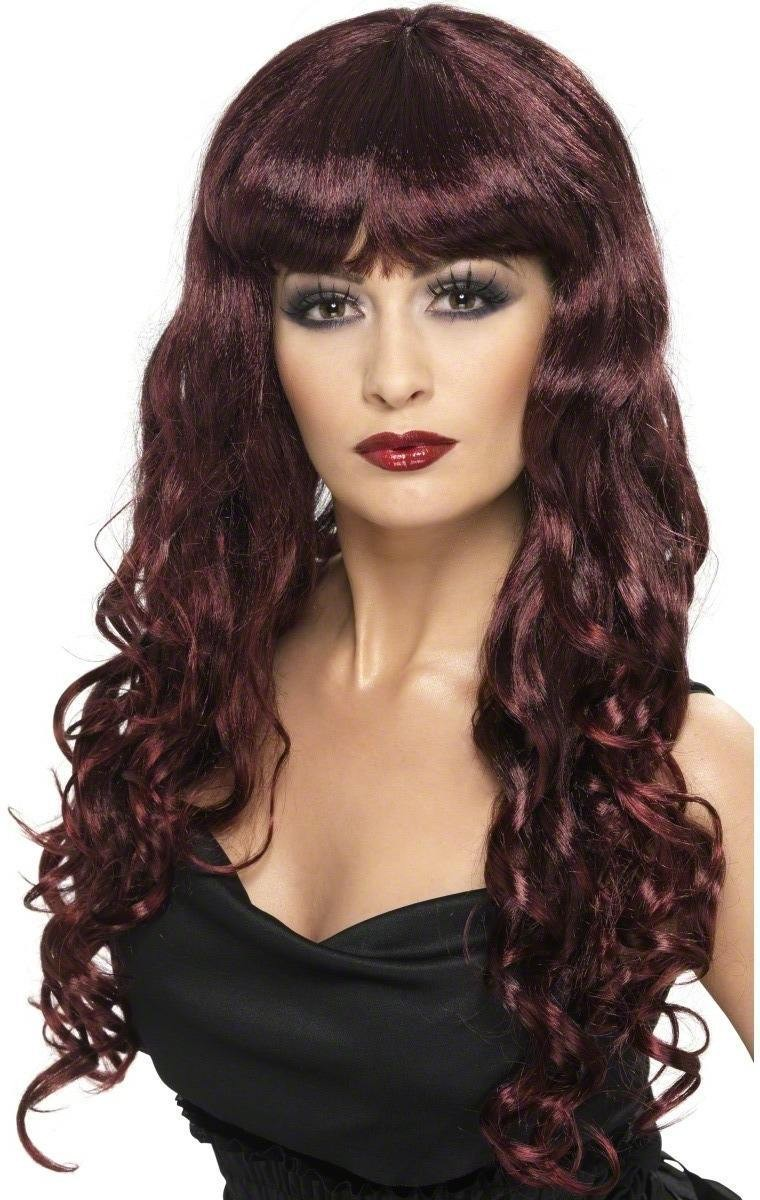Siren Wig - Fancy Dress Ladies - Maroon