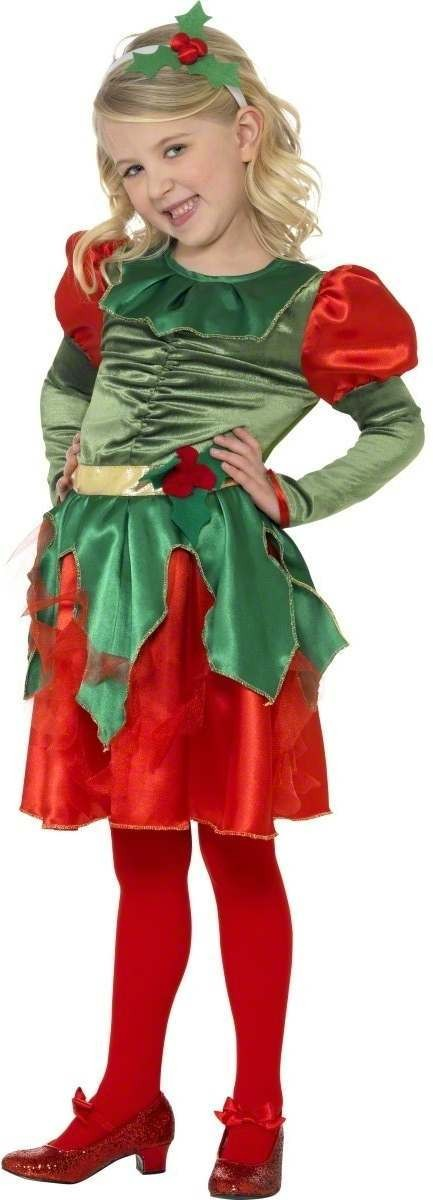 Holly Princess Fancy Dress Costume Girls (Christmas)