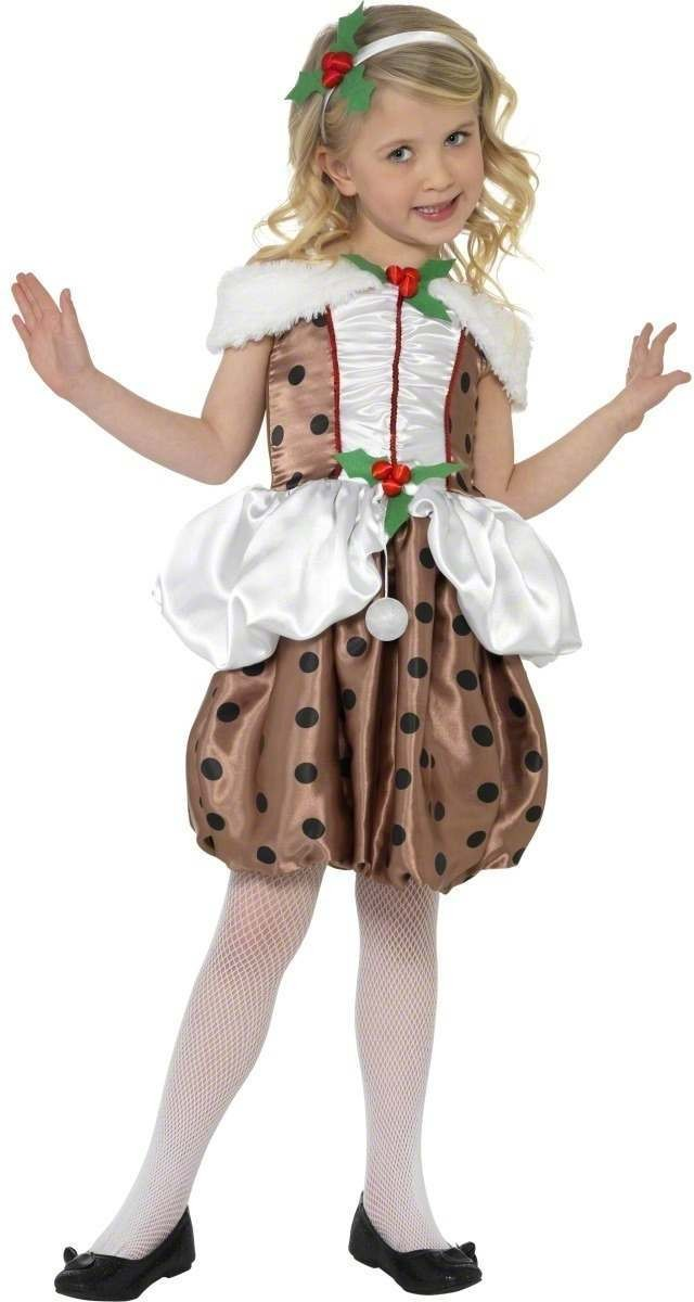 Christmas Pudding Fancy Dress Costume Girls (Christmas)