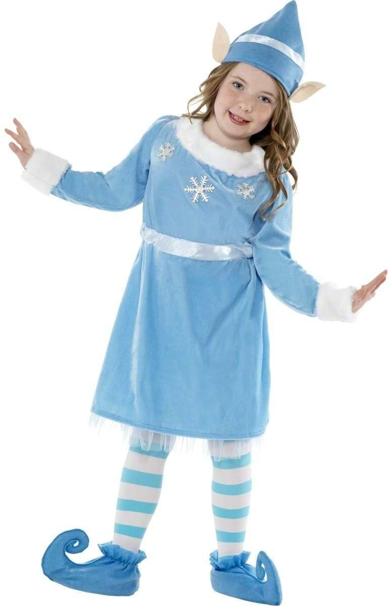 Snowflake Elf Fancy Dress Costume Girls (Christmas)