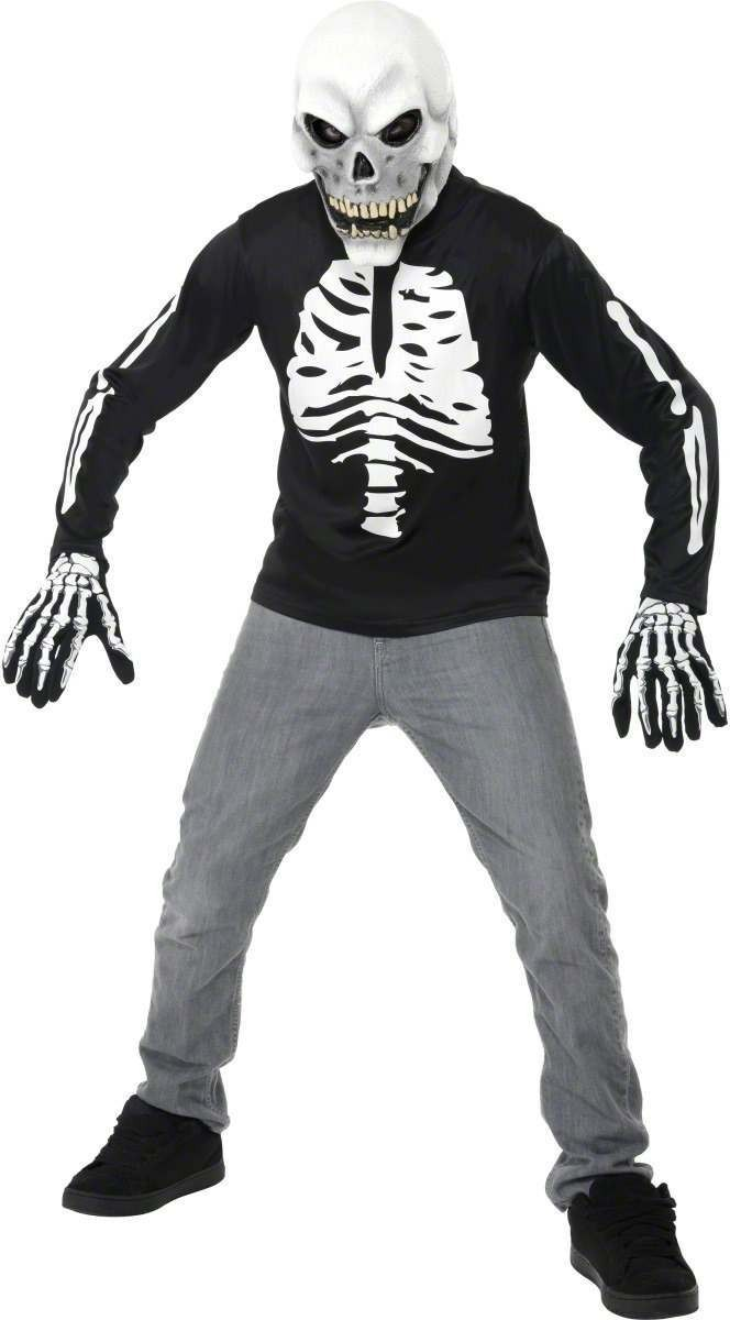 Teen Skeleton T-Shirt - Fancy Dress Age 13+ Boys (Halloween)