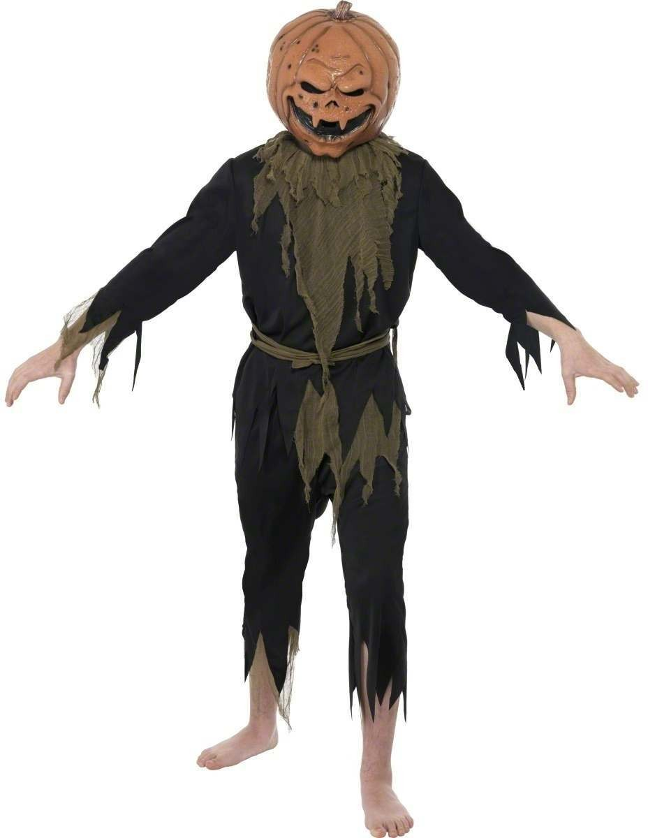 Teen Scary Pumpkin Fancy Dress Costume Age 13+ Boys (Halloween)
