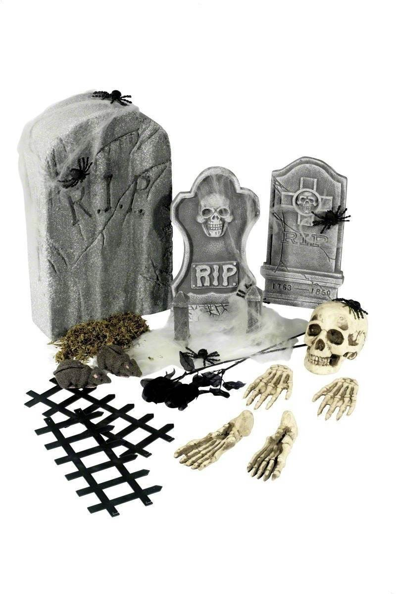 24 Piece Graveyard Collection - Fancy Dress (Halloween)