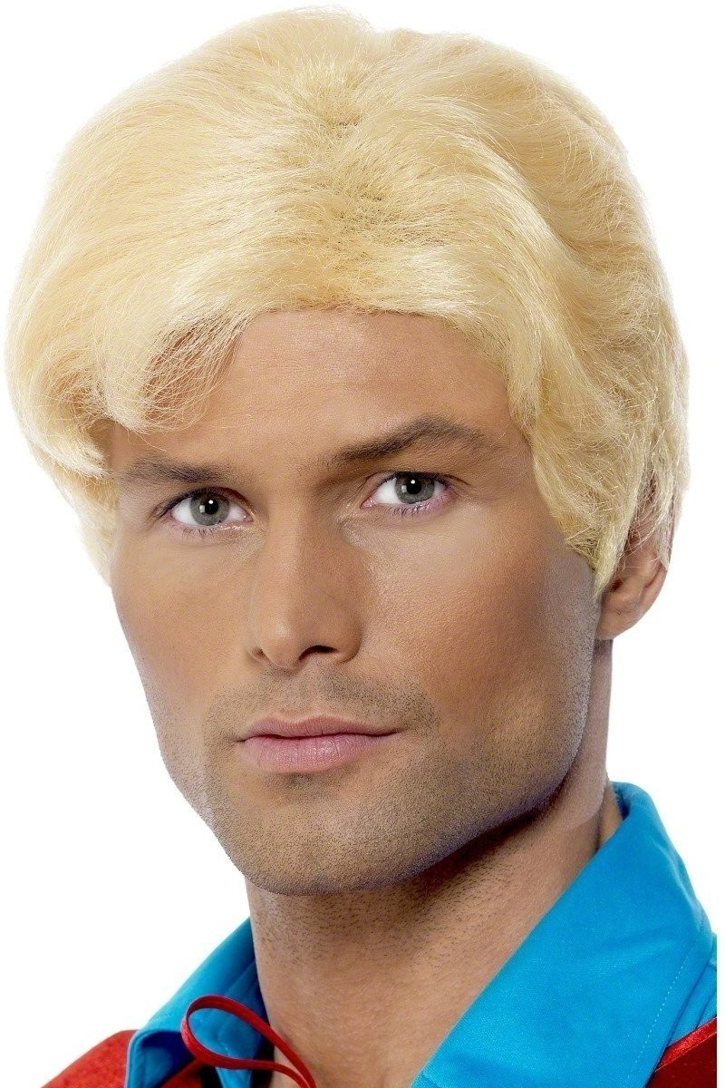 Flash Gordon Wig - Fancy Dress Mens (1970S, 1980S, Cartoon, Film, Heroes) - Blonde