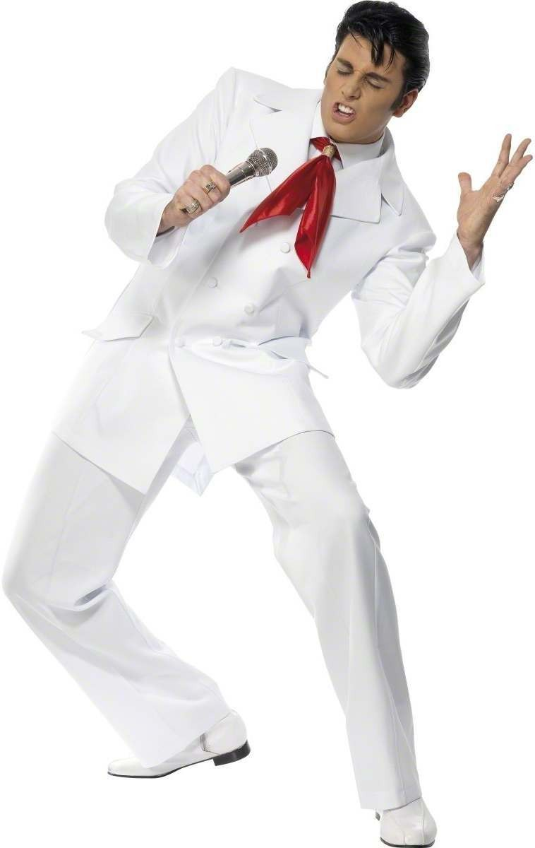 Elvis 68 Fancy Dress Costume Mens Size 38-40 S (Music)