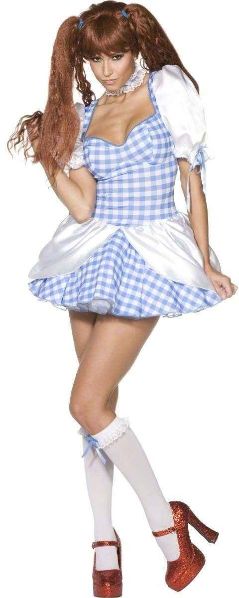 Rebel Toons Ladies Dorothy Fancy Dress Costume Ladies (Cartoon)