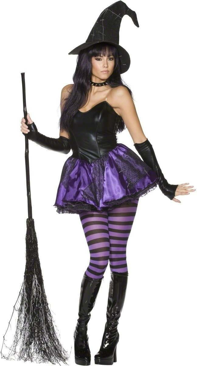 Rebel Toon Wicked Witch Fancy Dress Costume Ladies (Cartoon)