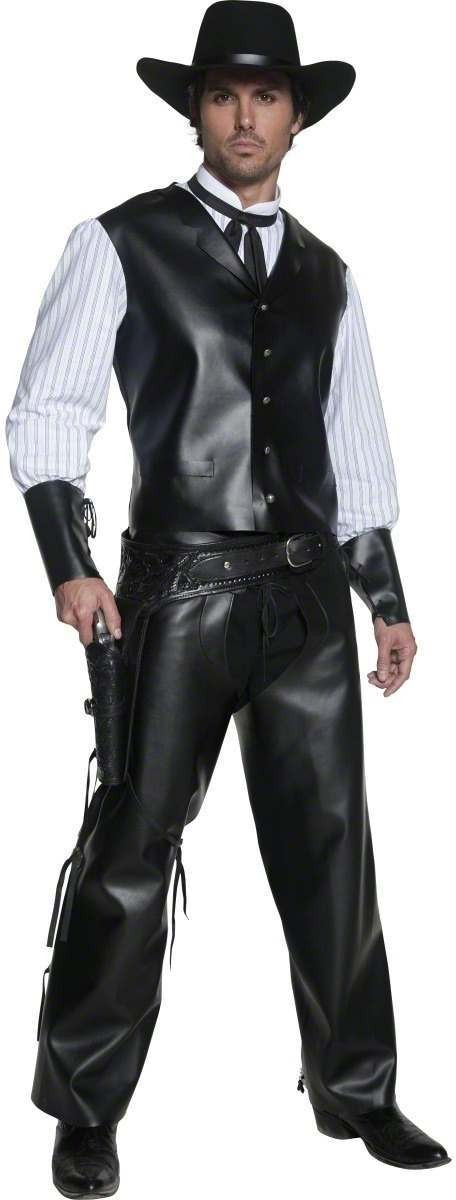 Buy Authentic Western Gunslinger Costume Mens(Cowboys/Indians) - Largest online fancy dress range in the UK - Price Guarantee u0026 FREE Delivery  sc 1 st  Fun Fancy Dress & Buy Authentic Western Gunslinger Costume Mens(Cowboys/Indians ...