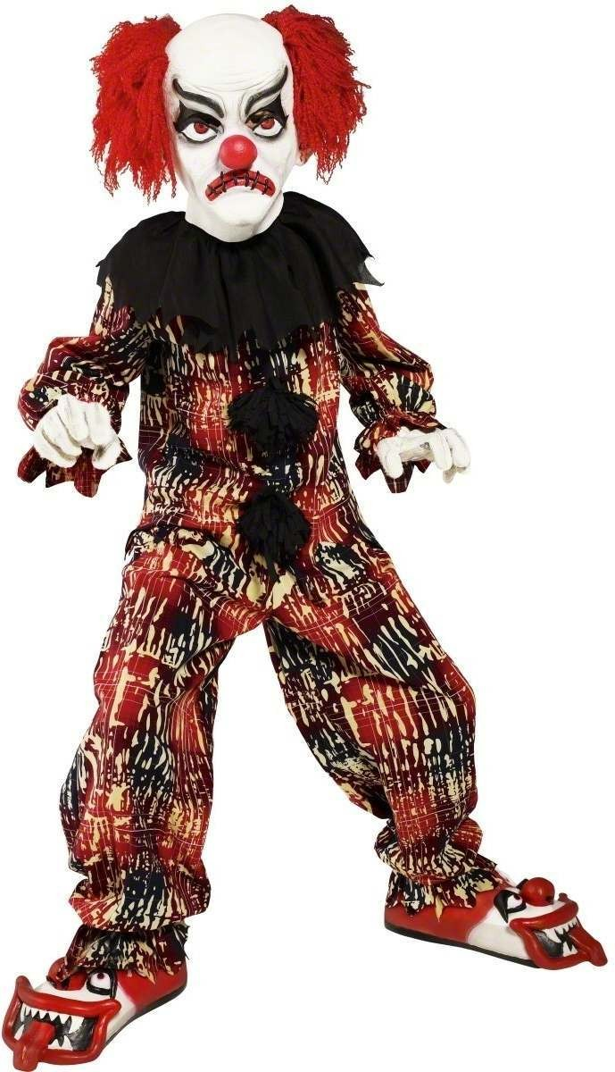 Scary Clown Fancy Dress Costume Boys (Halloween)