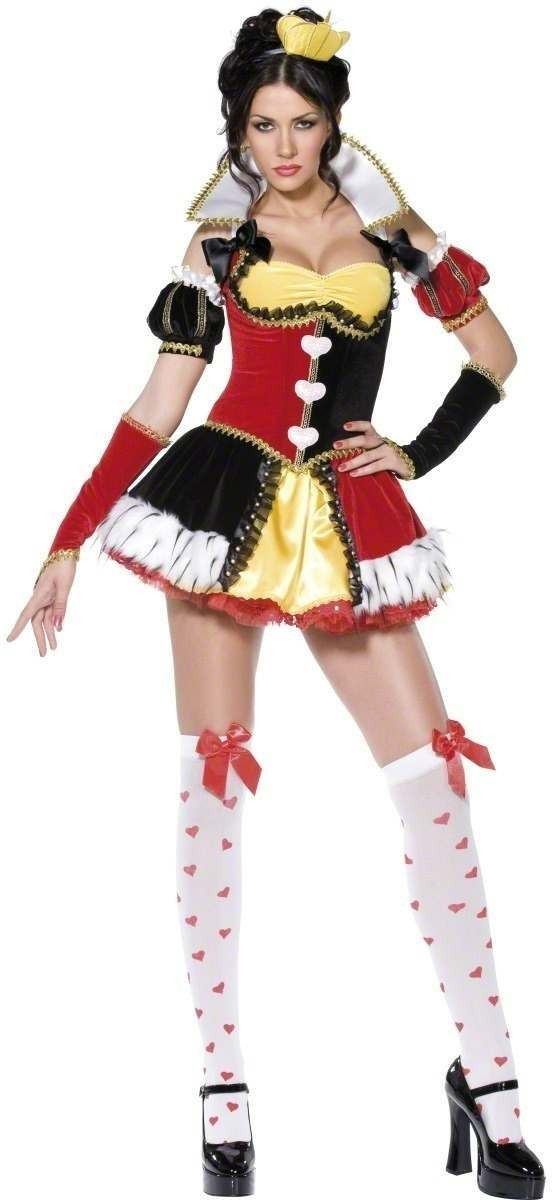 Queen Of Hearts Fancy Dress Costume Ladies (Sexy)