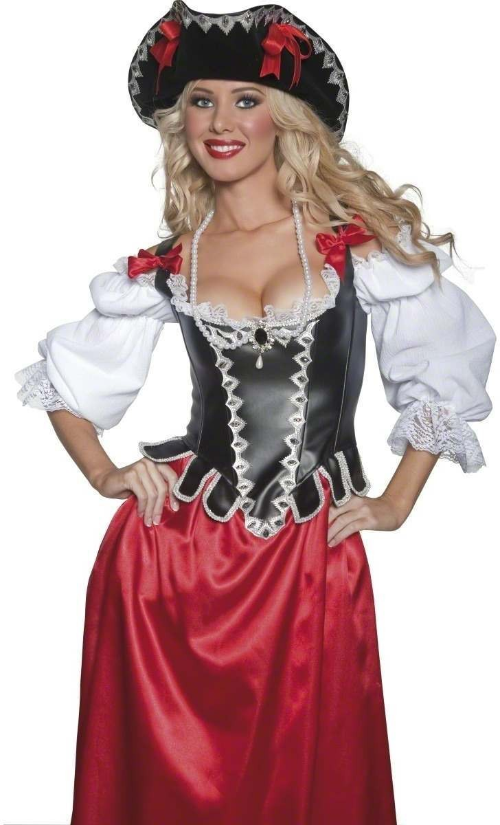 Authentic Pirate Wench Hat - Fancy Dress Ladies (Pirates)