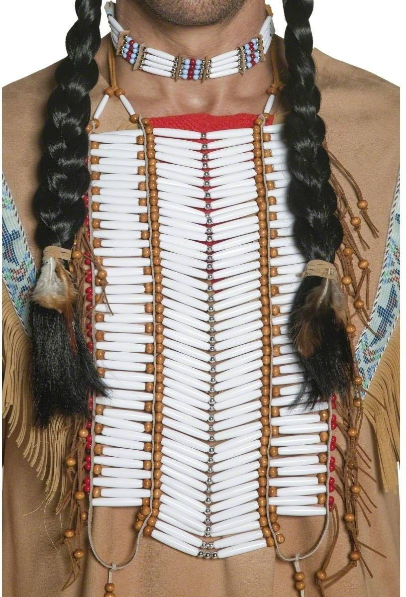 Western Authentic Native American Breastplate - Fancy Dress Mens (Cowboys/Native Americans)