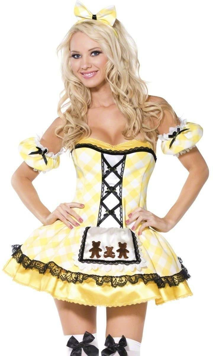 Goldilocks 4 Piece Fancy Dress Costume Ladies (Fairy Tales , Sexy)