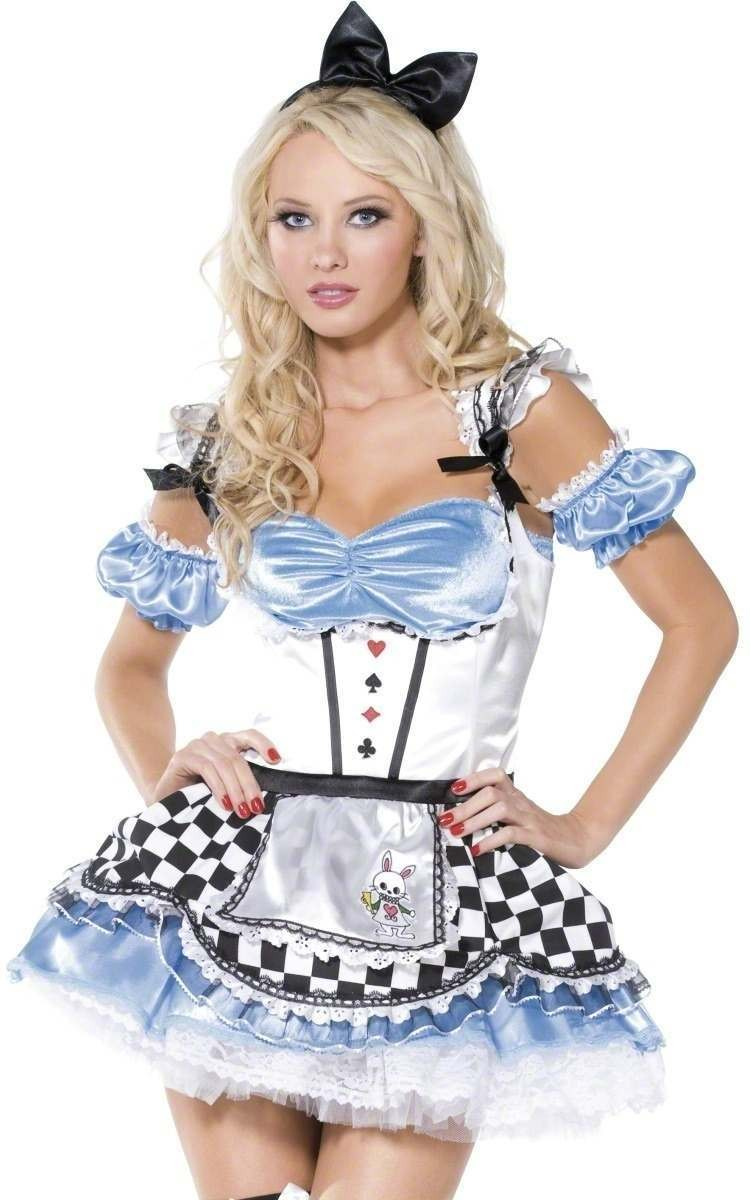 Sweet Alice 4 Piece Fancy Dress Costume Ladies (Fairy Tales , Sexy)