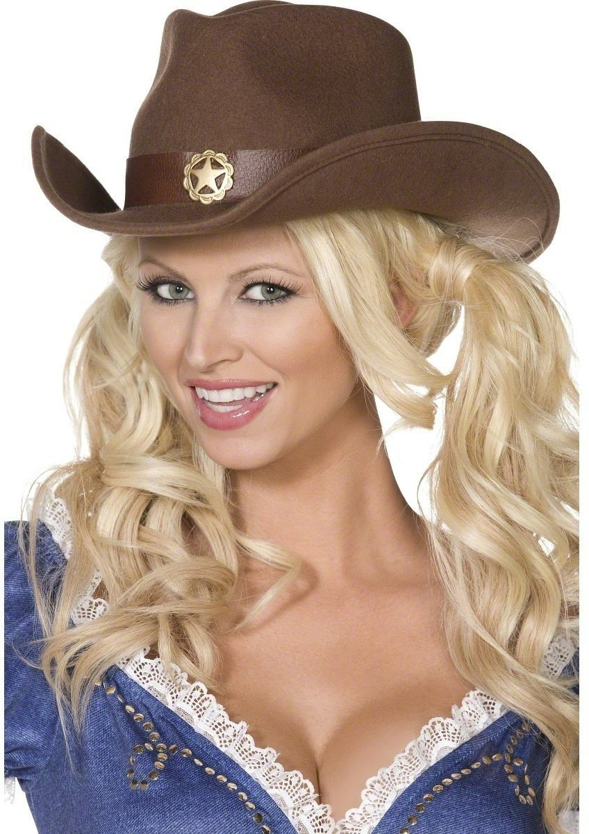 Wild West Cowboy Hat - Fancy Dress Ladies (Sexy)