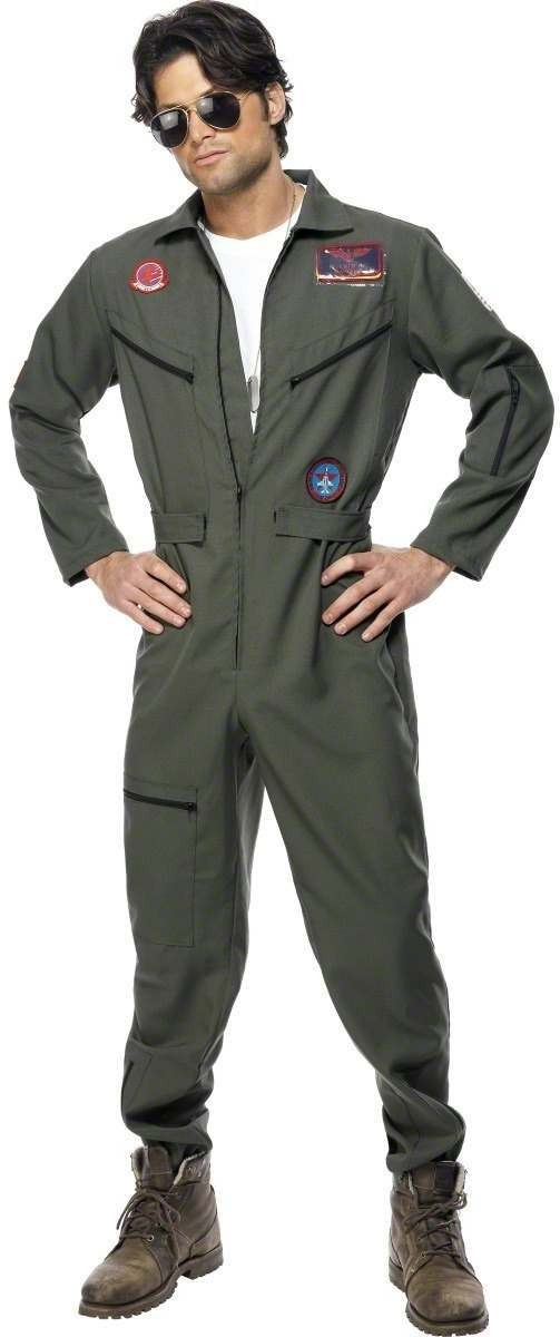Top Gun Fancy Dress Costume Mens (1980S , Army , Film , Pilot/Air , Tv)