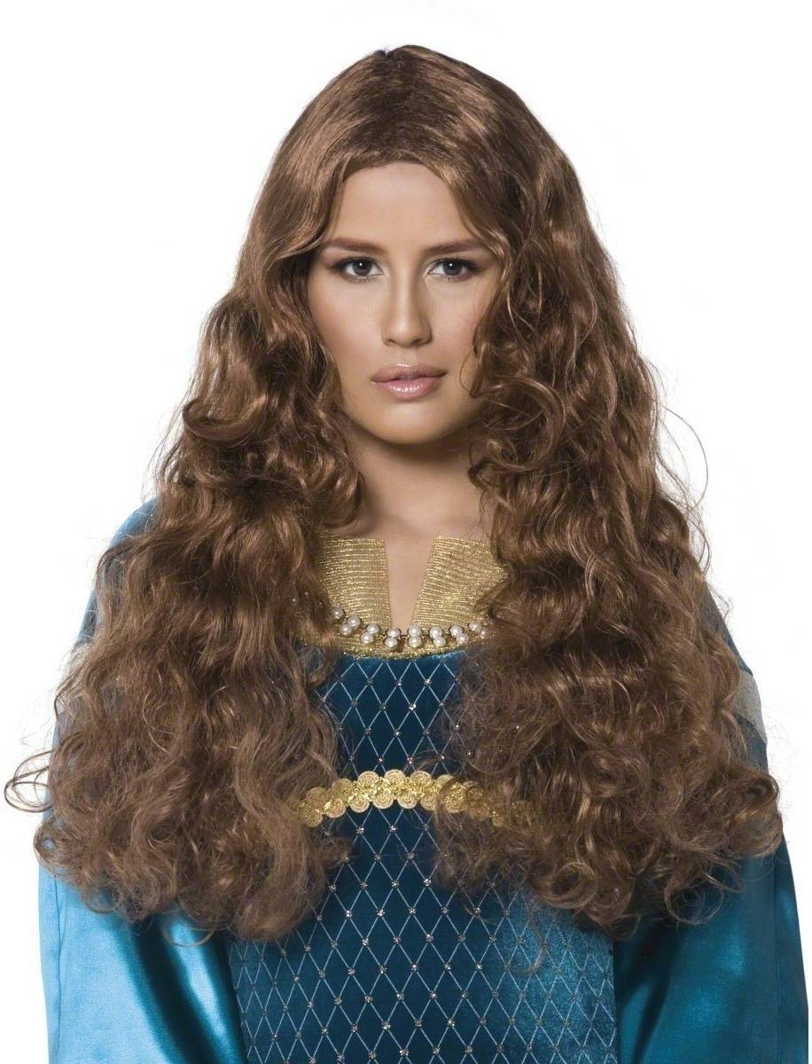 Tales Of Old England Maid Marion Wig - Fancy Dress - Brown