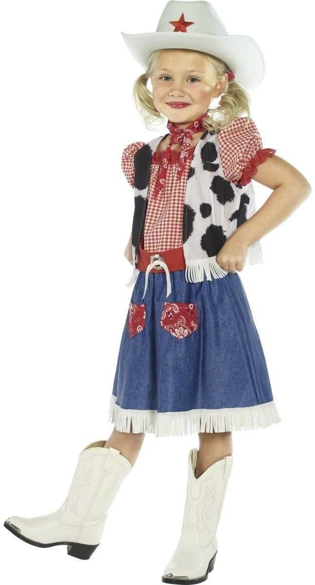 Cowgirl Sweetie Fancy Dress Costume Girls (Cowboys/Native Americans)