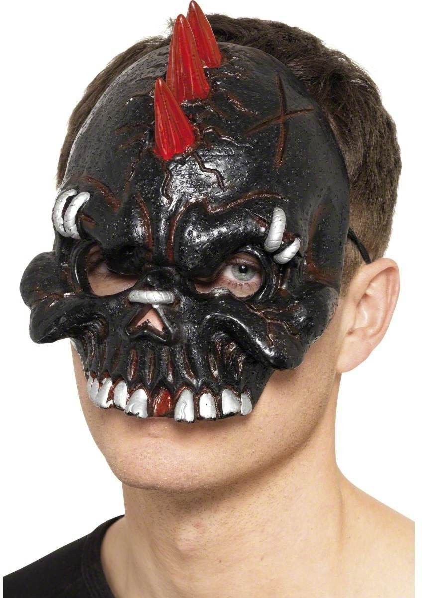 Dark Dead Punk Chinless Mask - Fancy Dress Mens (Halloween)