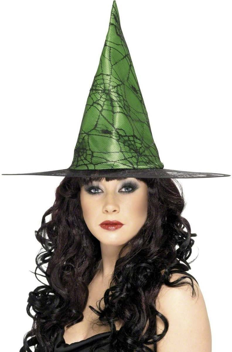 Witch Hat Spiderweb Lace - Fancy Dress Ladies (Halloween)