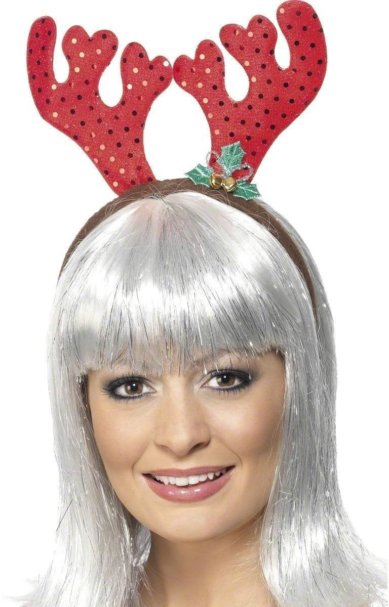 Sequin Reindeer Antlers - Fancy Dress Ladies (Christmas)
