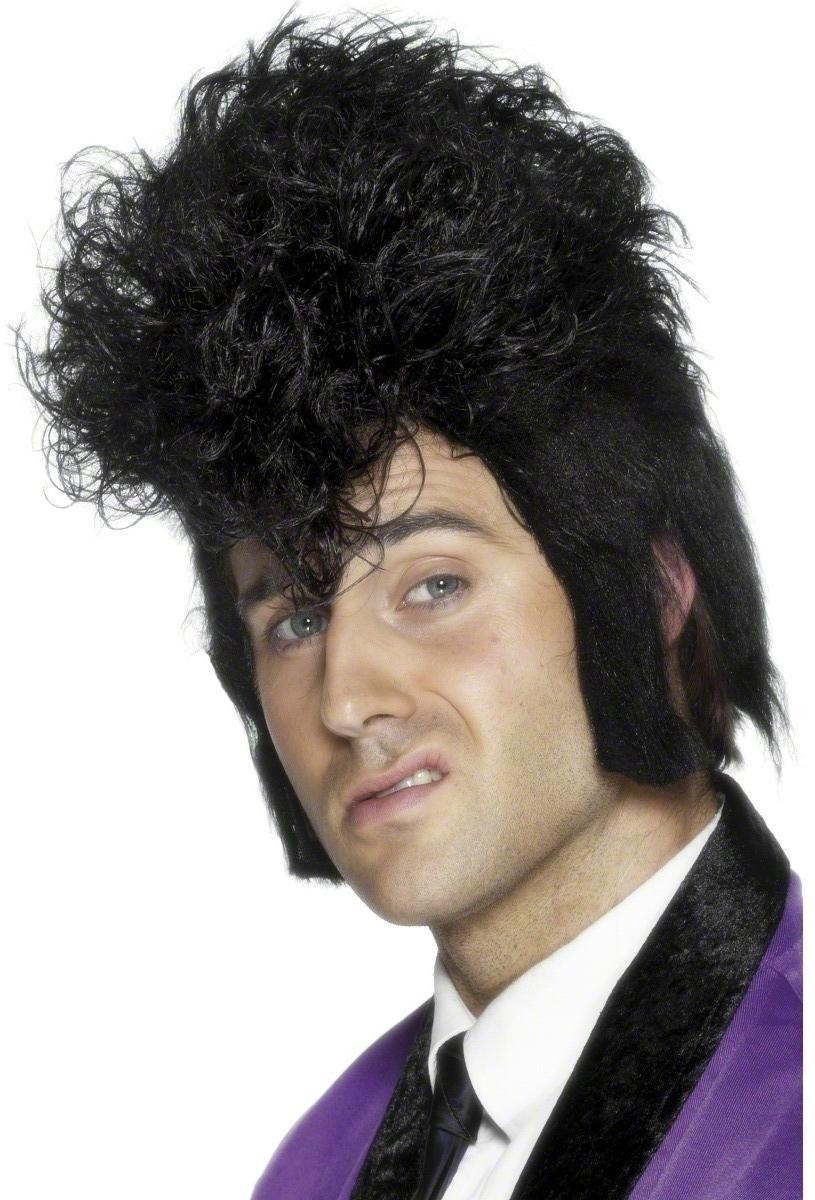 Teddy Boy Rocker Wig - Fancy Dress Mens (1950S) - Black