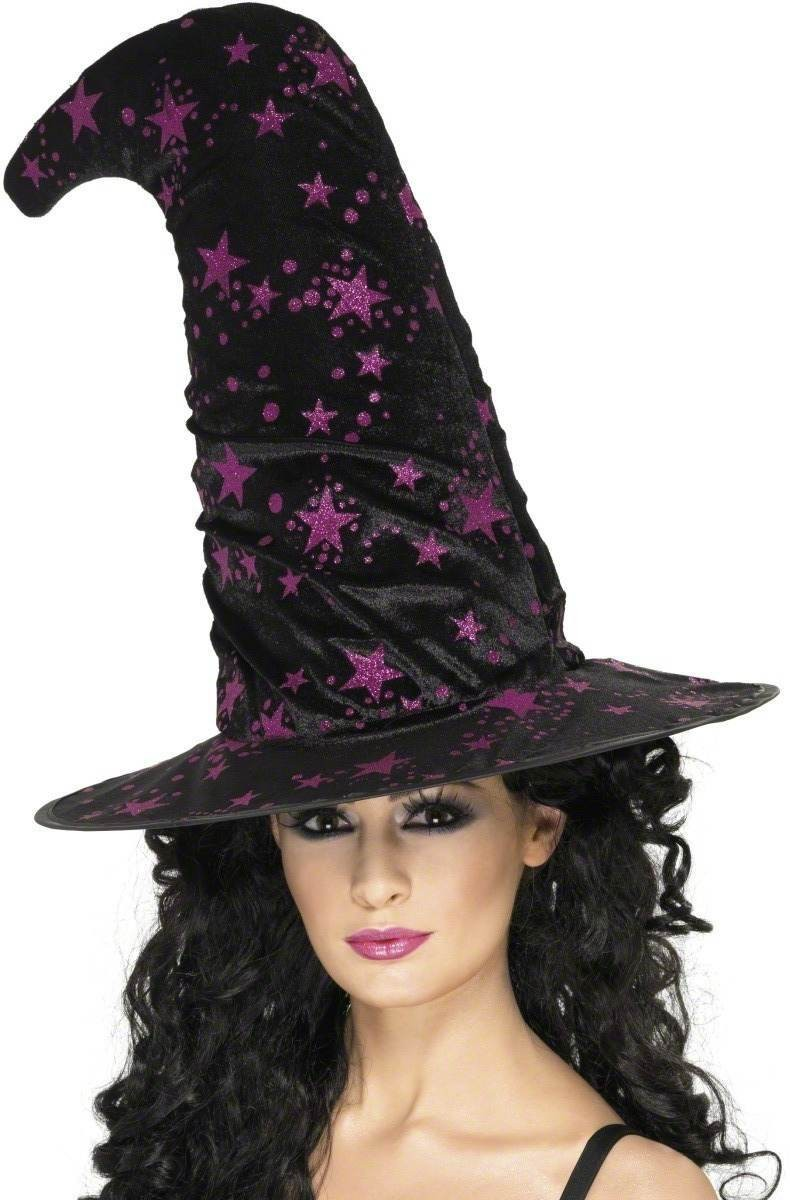 Witch Hat With Stars - Fancy Dress Ladies (Halloween)