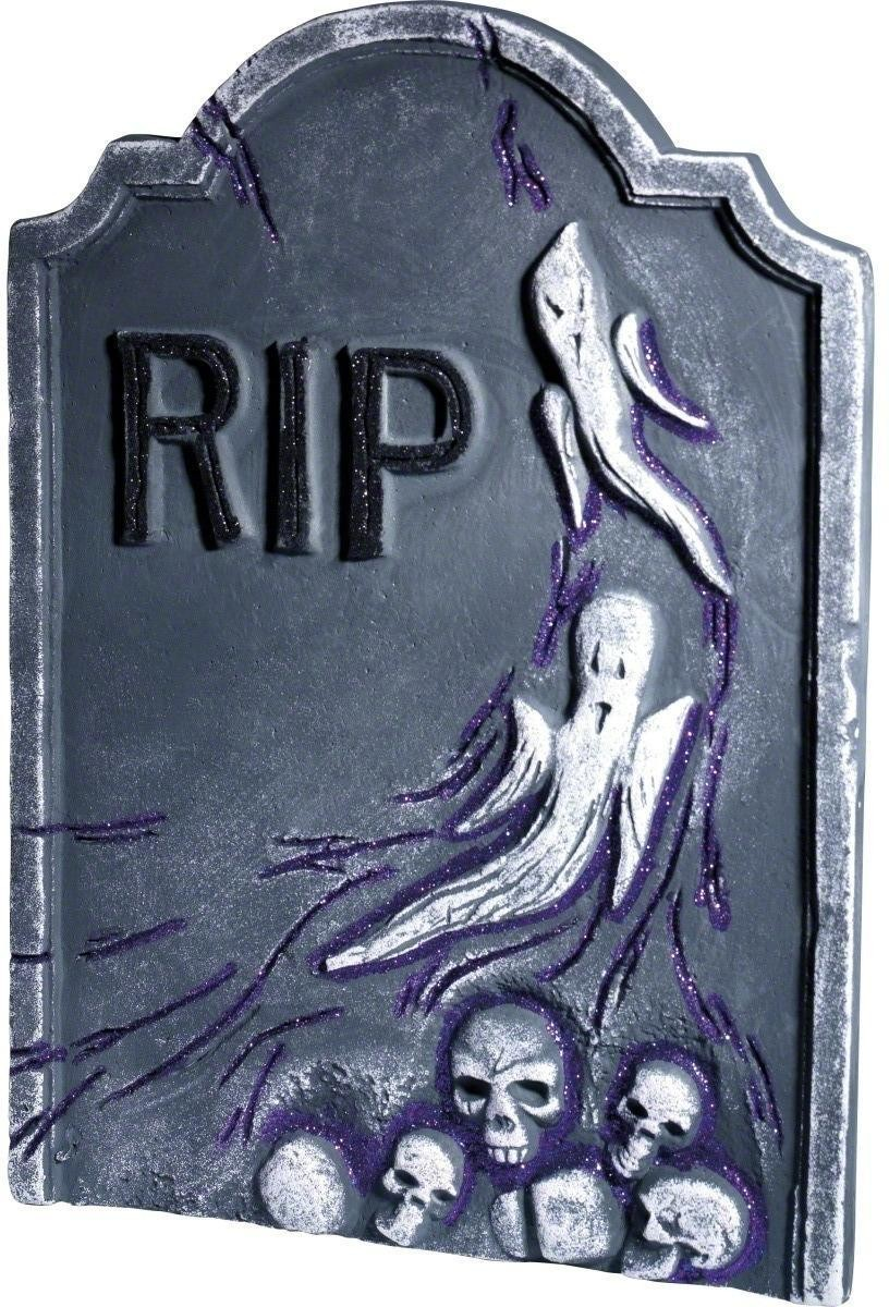 Gravestone With Skulls And Ghosts - Fancy Dress (Halloween)