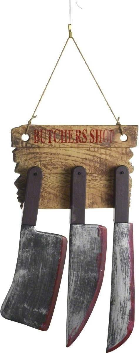 Butchers Knife Combination Wall Set - Fancy Dress (Halloween)