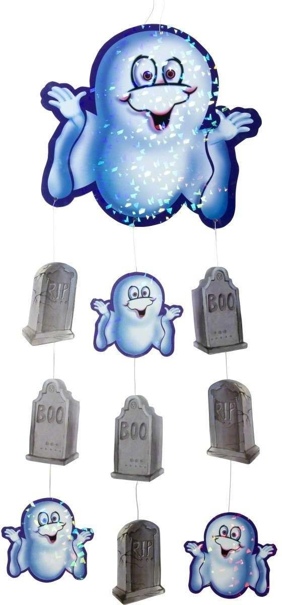 Ghost And Gravestone Hanging Decoration - Fancy Dress (Halloween)