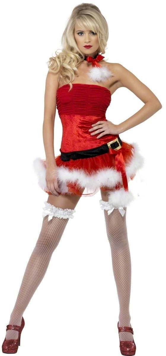 Fever Naughty Santa Fancy Dress Costume Ladies (Sexy)