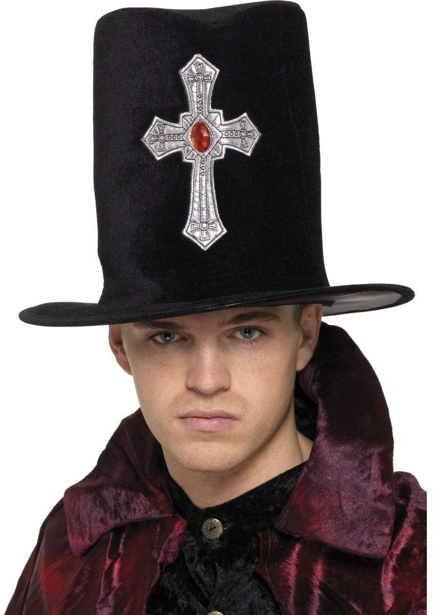 Gothic Gravedigger Topper Hat - Fancy Dress Mens (Halloween)